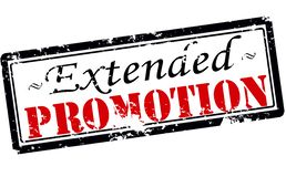 Extended promotion. Rubber stamp with text extended promotion inside,  illustration Stock Image