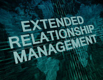 Extended Relationship Management Stock Photography