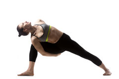 Extended Side Angle Pose Royalty Free Stock Photography