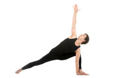 Extended Side Angle Pose Royalty Free Stock Images