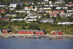 Extended town of Molde, South-Norway Stock Image