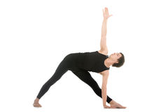 Extended Triangle Pose Stock Images