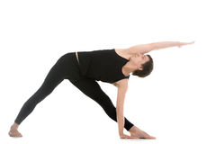 Extended Triangle Pose variation Royalty Free Stock Image