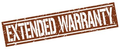 Extended warranty stamp Stock Photography