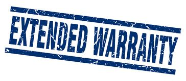 Extended warranty stamp Royalty Free Stock Image