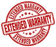 Extended warranty stamp Stock Image