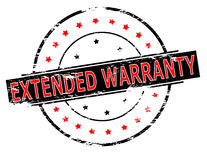 Extended warranty Stock Images