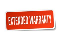 Extended warranty sticker Stock Images