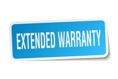 Extended warranty sticker Stock Photography