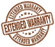 Extended warranty stamp Royalty Free Stock Photos
