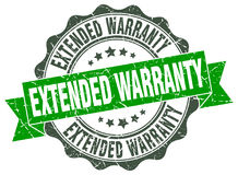 Extended warranty stamp Stock Images