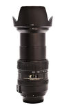 Extended zoom lens. A zoom lens is a mechanical assembly of lens elements for which the focal length and thus angle of view can be varied, as opposed to a fixed Stock Photos