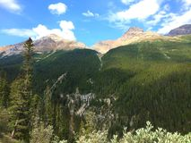 Breathtaking view of Canadian Rockies in Jasper National Park royalty free stock images