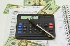 Extensão 2010 do IRS Imagens de Stock Royalty Free