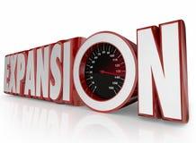 Extensão de Expansão Palavra Crescimento Aumento Mais Negócio Empresa Imagem de Stock Royalty Free