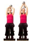 Extensão do tríceps Foto de Stock Royalty Free