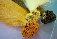 Extensões do cabelo Imagens de Stock