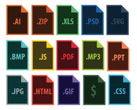 Extensión de ficheros del vector ilustración del vector
