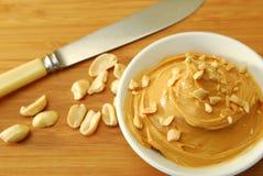 Extensión de la mantequilla de cacahuete Imagen de archivo