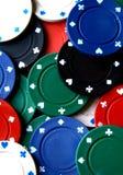 Extensión de las virutas de póker Imagen de archivo