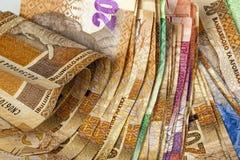 Extensión del diverso fondo surafricano del billete de banco Imagenes de archivo