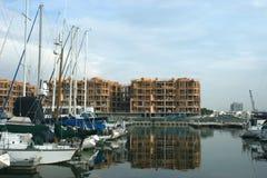 Extensión del puerto deportivo Foto de archivo libre de regalías