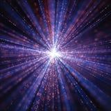 Extensión del universo de Big Bang ilustración del vector