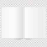 Extensión en blanco de la revista del vector Libro separado con white pages en blanco Fotos de archivo