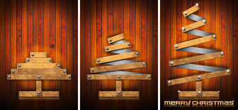Extensible Wooden Christmas Trees Stock Photos