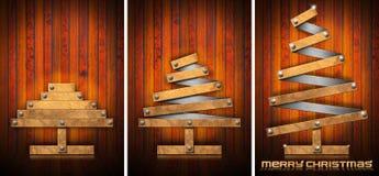 Extensible Wooden Christmas Trees Stock Photos