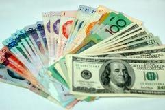 Extensión de dinero en circulación Imagen de archivo libre de regalías