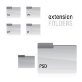 Extensin Folder Set Royalty Free Stock Photography