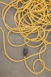 Extension cord. At construction site royalty free stock photo