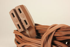 Extension Cord with Multiple Sockets Stock Photo