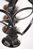 Extension cord with plugs Royalty Free Stock Images