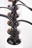 Extension cord with plugs Royalty Free Stock Photography