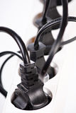 Extension cord with plugs Stock Photo