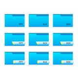 Extension Folders Royalty Free Stock Photos