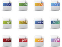 Extension icon set Stock Photos