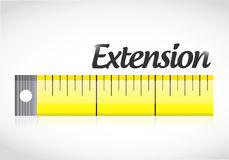 Extension measure tape illustration design Stock Photos