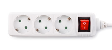 Extension power strip Stock Photography