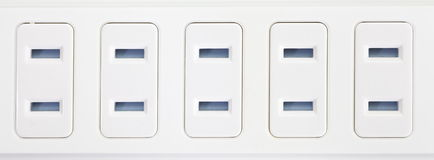 Extension power strip Royalty Free Stock Image