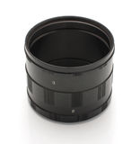 Extension rings for macrophotography isolated Stock Images