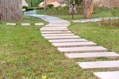 Extension Stone Path In The Park Stock Photo