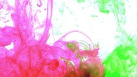 Extensiones coloridas excelentes de la pintura del extracto en fondo del agua metrajes