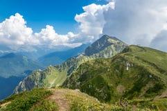 Extensiones de la montaña Fotografía de archivo libre de regalías