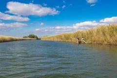 Extensiones del río de Astrakhan Foto de archivo