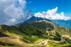 Extensiones Sochi de la montaña Foto de archivo
