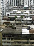Extensions. Roofs of old buildings in Hong Kong Royalty Free Stock Photos