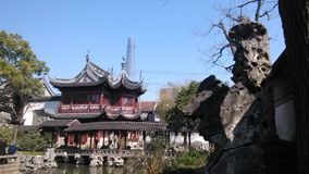 Yu garden view Sanghai China winter royalty free stock image